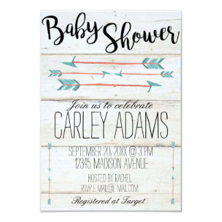 Rustic Adorned with Arrows Baby Shower Invite