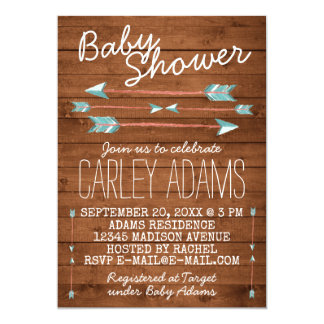 arrow baby shower invitations & announcements | zazzle, Baby shower invitations