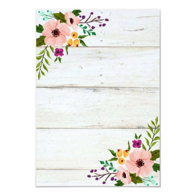 rustic adorned with floral | baby shower invite | zazzle, Baby shower invitations