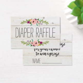 Rustic Adorned with Floral | Diaper Raffle