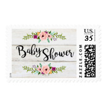 Rustic Adorned with Floral Postage