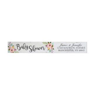 Rustic Adorned with Floral | Return Address Labels