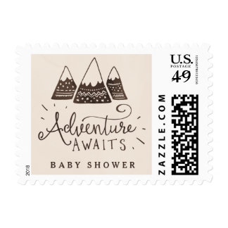 Rustic Adventure Themed Baby Shower Postage