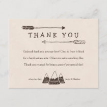 Rustic Adventure Themed Thank You Cards for Shower