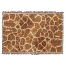 rustic african fashion safari animal giraffe print throw