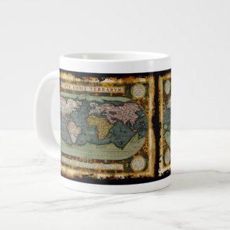 Rustic Aged Old World Map Jumbo Soup Mug Extra Large Mug