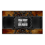 Rustic Aged Wood Vintage Wild West Business Card