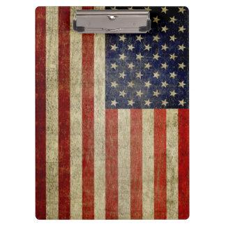 Rustic American Flag Clipboard