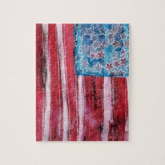 Rustic American Flag Jigsaw Puzzle