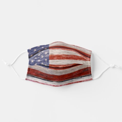 Rustic American Flag Patriotic Adult Cloth Face Mask