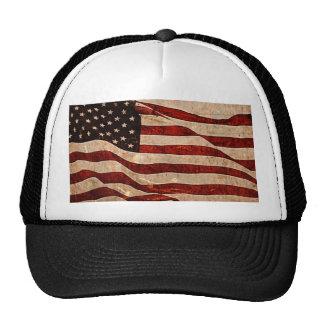 Rustic American Flag - Patriotic Print Trucker Hat