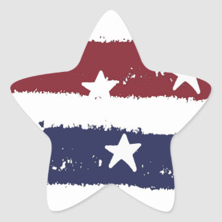 Rustic American Red, White and Blue Stickers