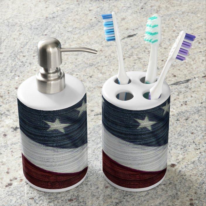 Rustic Americana Bathroom Set Zazzle