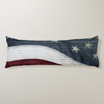 USA Themed Rustic Americana Body Pillow