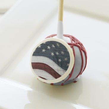 USA Themed Rustic Americana Cake Pops