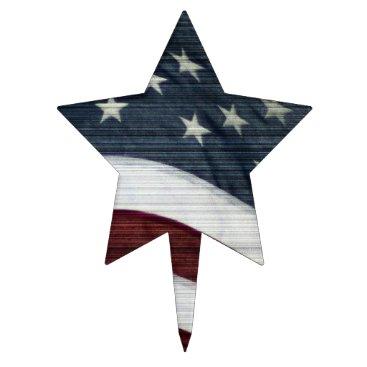 USA Themed Rustic Americana Cakepick