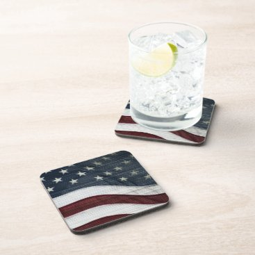 USA Themed Rustic Americana Coasters