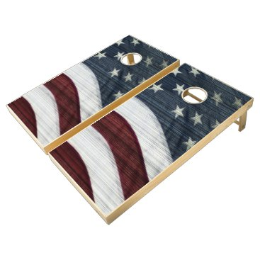 USA Themed Rustic Americana Cornhole Set