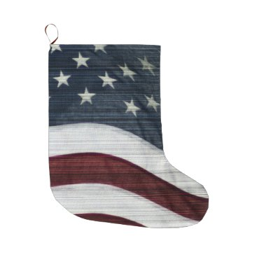 USA Themed Rustic Americana Custom Stocking