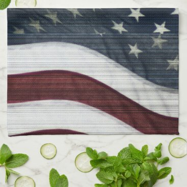 USA Themed Rustic Americana Kitchen Towel