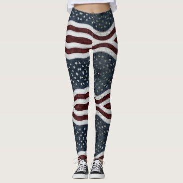 USA Themed Rustic Americana Leggings