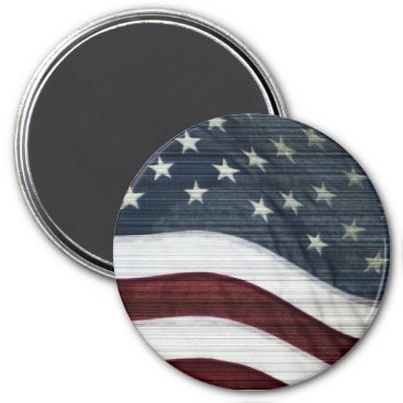 USA Themed Rustic Americana Magnet