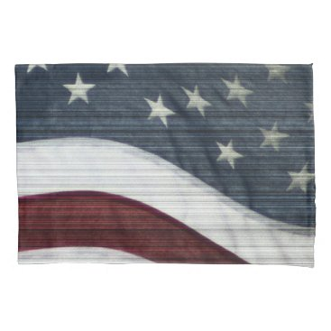 USA Themed Rustic Americana Pair of Pillowcases