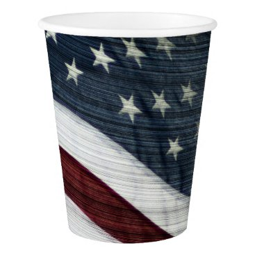 USA Themed Rustic Americana Paper Cup