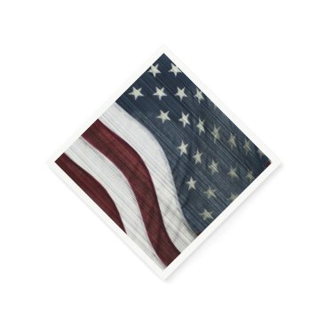 USA Themed Rustic Americana Paper Napkins