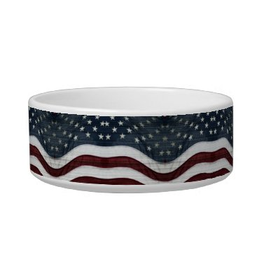 USA Themed Rustic Americana Pet Bowl