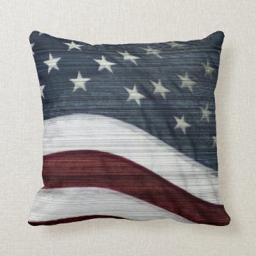 USA Themed Rustic Americana Pillow