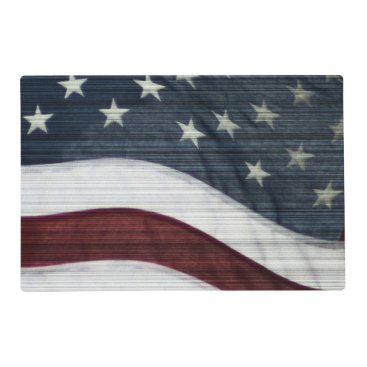 USA Themed Rustic Americana Placemat