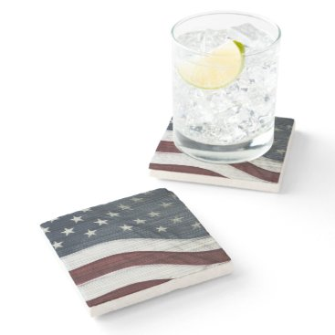 USA Themed Rustic Americana Stone Coaster