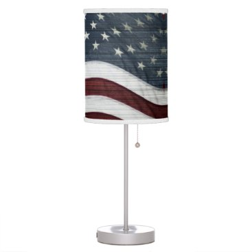 USA Themed Rustic Americana Table Lamp
