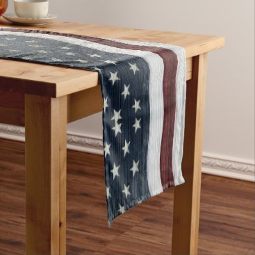 USA Themed Rustic Americana Table Runner
