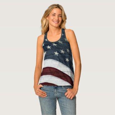 USA Themed Rustic Americana Tank Top