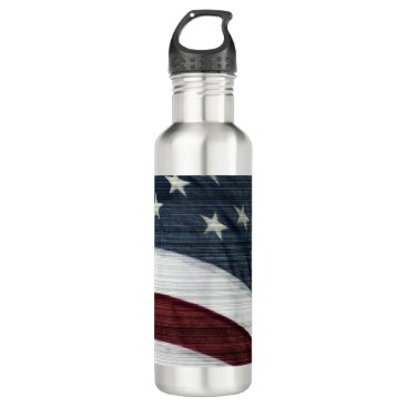 USA Themed Rustic Americana Water Bottle