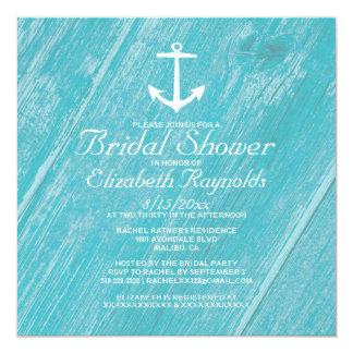 Rustic Anchor Bridal Shower Invitations