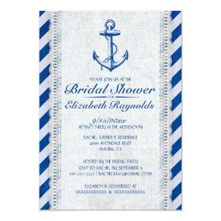 Rustic Anchor Nautical Bridal Shower Invitations