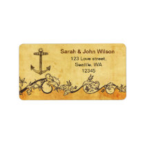 rustic anchor nautical wedding address labels