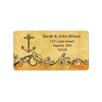 rustic anchor nautical wedding address labels