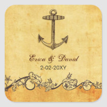 rustic anchor nautical wedding  envelopes seals
