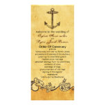 rustic anchor nautical wedding program custom rack card