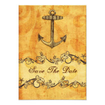 rustic anchor nautical wedding save the date card