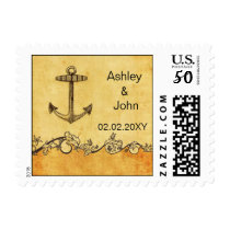 Rustic Anchor Nautical Wedding stamps
