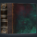 """Rustic Ancient Tome Faux Black &amp; Turquoise Binder<br><div class=""""desc"""">Ornate scrollwork,  weathered grunge detail,  and faux leather enriched with a beautiful aged texture create a truly authentic looking &#39;ancient tome&#39; disguise for this trendy three-ring binder.</div>"""