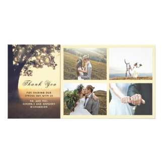 Rustic and Dream Tree Wedding Thank You Card
