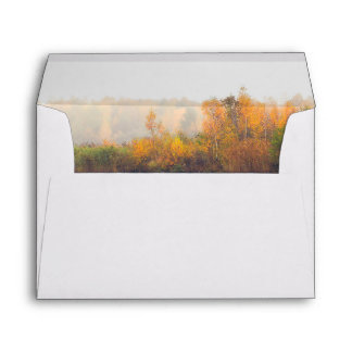 Rustic and Elegant Fall Wedding Envelope