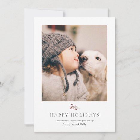 Rustic and Minimalist Christmas Holiday card