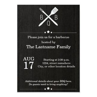 Rustic and Modern BBQ Invitations